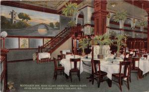 11657  IL Chicago 1912  Mandarin Inn Asian  Restaurant Dining Room