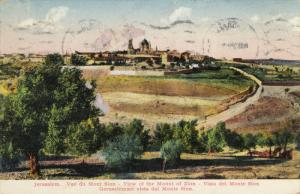 View Of The Mount Of Zion, JERUSALEM, Israel, PU-1929