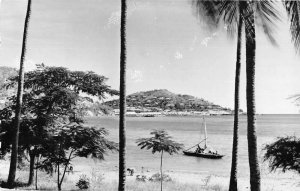 Port Moresby Papua New Guinea Harbor View Real Photo Vintage Postcard AA44138
