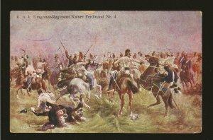 Austria KUK Dragoner -Regiment Kaiser Ferdinand Nr4 Vels 1 6a Art Color Postcard