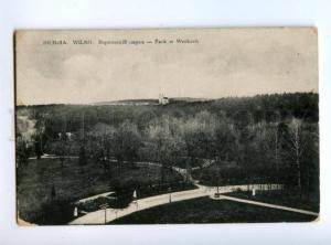 167395 Lithuania Vilnius WILNO Werkach Park Vintage postcard