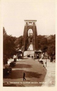 Vintage Real Photo Postcard, Entrance to Clifton Bridge Bristol 61W