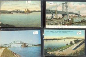 pc12469 postcard Bridges SIX 3 used 3 not