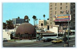 Postcard Brown Derby Restaurant, Los Angeles CA Wilshire Blvd B55