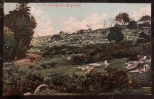 Mint Ceylon PPC Picture Postcard Chinese Burial Ground View