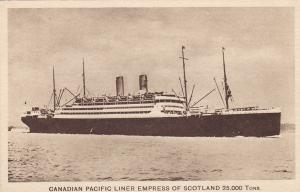 Oceanliner/Steamer/Ship, Canadian Pacific Liner Empress Of Scotland ,10-20s