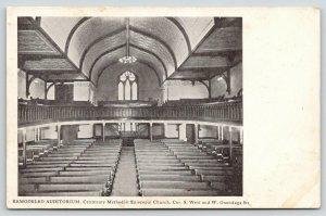 Syracuse NY~Centenary Methodist Episcopal Church~Auditorium~Balcony~1908 PC