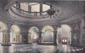 BELFAST, Northern Ireland, 1900-1910's; City Hall, Interior View