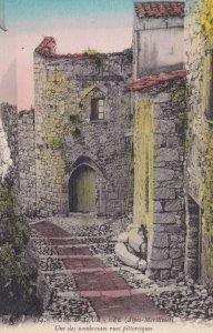 COTE D'AZUR EZE, Alpes Maritimes, France, 1900-1910s; Une Des Nombreuses Rues...