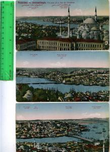 229223 Panorama of Constantinople Set of 6 vintage postcards