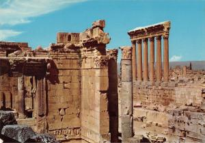 BR49661 temple of bacchus and the six columns of jupiter Baalbeck     Lebanon