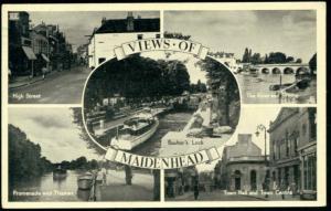 berkshire, MAIDENHEAD, High St, Town Hall, Bridge (1951)