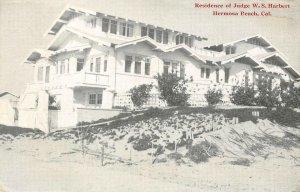 Residence of Judge W.S. Harbert, Hermosa Beach, CA 1918 Vintage Postcard