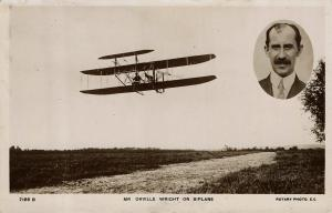 1907 Pioneer Aviation RPPC: Orville Wright Flies Biplane in England – Rare