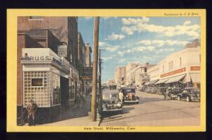 Willimantic, Conn/CT Postcard, Main Street, Woolworth's/Cars