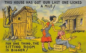 Outhouses Post Card Out House Postcard Outhouse Comic Unused