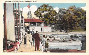 Point Pleasant NJ~Clarks Landing~Boys Strut On Dock~Boats & Yachts~Pavilion~1916
