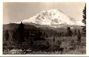 California Mount Shasta From McCloud Real Photo