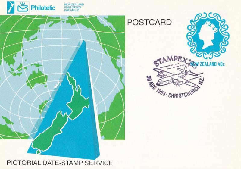 Stampex 85 New Zealand Christchurch Plane Aircraft Frank Postcard FDC