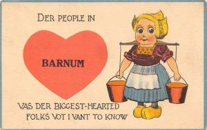 Barnum Iowa~Gal w/Shoulder Yoke~Der People Vas Der Biggest-Hearted Folks~1915