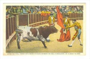After The Final Thrust With Sword Sticking Between The Bull´s Shoulders, He ...