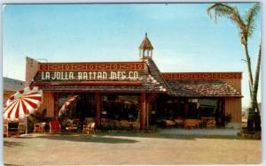 LA JOLLA, California  CA  Advertising  LA JOLLA RATTAN MFG.  c1960s   Postcard