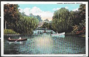 Lagoon, Garfield Park. Chicago Illinois. Boats.