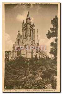 Old Postcard Montmorency S and O St. Martin's Church