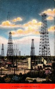 Oklahoma Typical Oklahoma Oil Field 1949