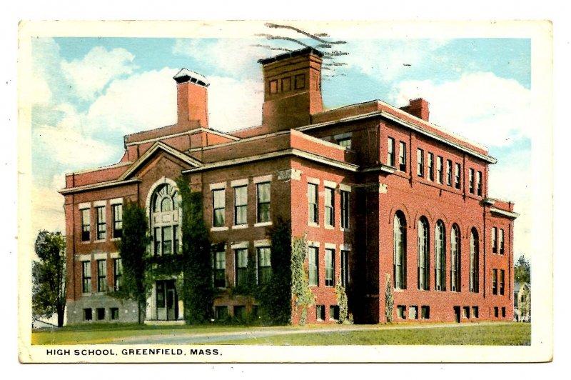 MA - Greenfield. High School