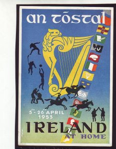 P1592 1953 FDC used postcard ireland an tostal-pageant irish life and culture