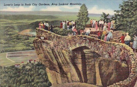 Lovers Leap In Rick City Gardens Atop Lookout Mountain West Virginia