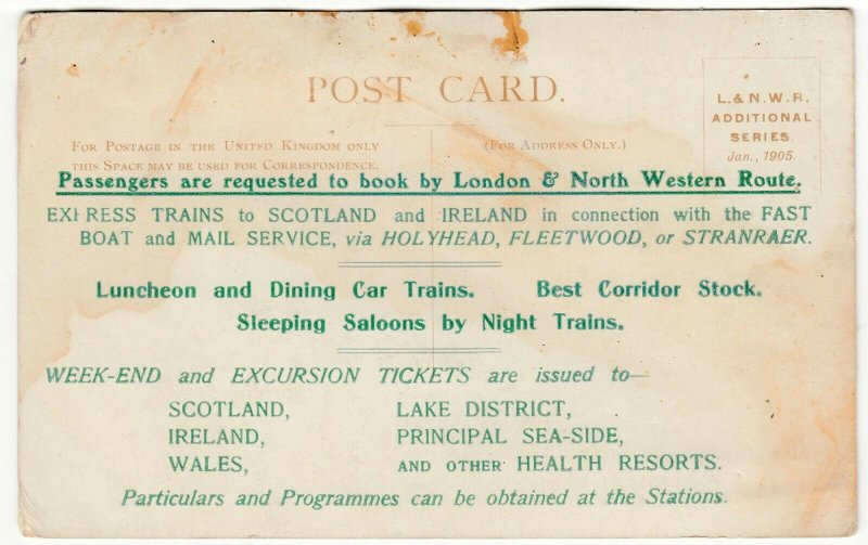 Northamptonshire; Roade Cutting, Sept 1904, LNWR Official PPC, Overprint To Rev