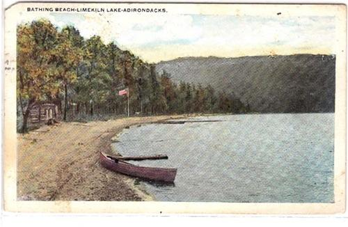 Beach at Limekiln Lake NY