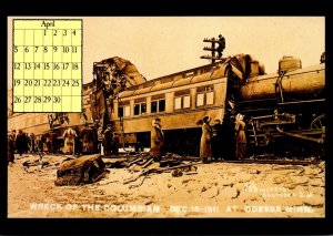 1987 Calendar Series April Wreck Of The Columbian 18 December 1911 Odessa Min...
