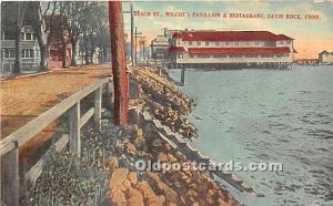 Savin Rock, Connecticut, CT, USA Postcard Beach Street, Wilcox's Pavilli...