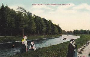 Djurgardsbrunns Kanalen, Stockholm, Sweden, 1900-1910s
