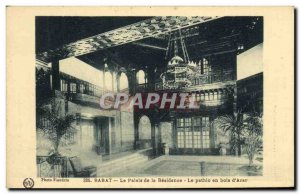 Old Postcard Rabat Palace Residence The wooden Pathio to Arar