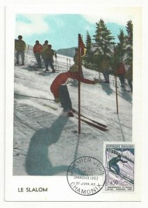 CHAMONIX, France, PU-1962; Olympics Le Slalom