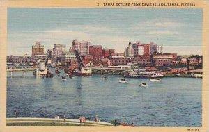 Florida Tampa Tampa Skyline From Davis Island