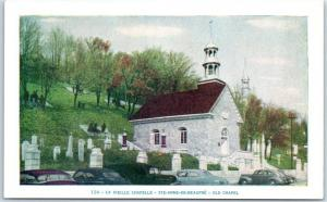 Sainte Anne de Beaupre, Quebec Canada Postcard LA VEILLE CHAPELLE Church Unused