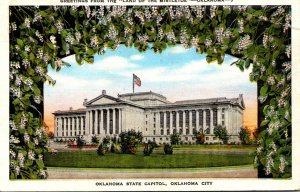 Oklahoma Okahoma City State Capitol Greetings From The Land Of Mistletoe 1951