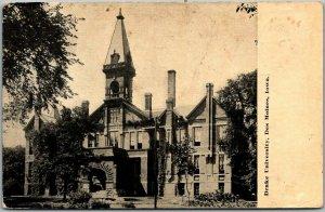 Des Moines, Iowa Postcard DRAKE UNIVERSITY Main Building View c1910s