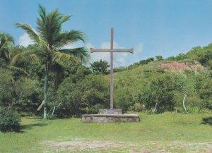 Porta Segura Cross Marking The First Celebration In Brazil Postcard