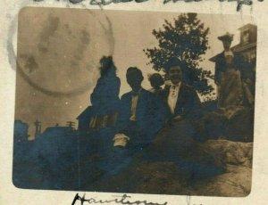 1904 Family Selfie Gloucester Massachusetts MA Antique RPPC Photo Postcard