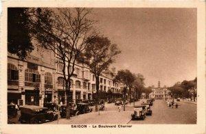 CPA AK INDOCHINA Saigon Le Boulevard Charner VIETNAM (957456)