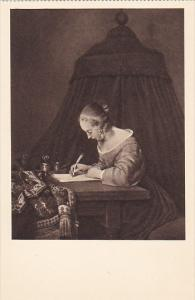 Netherlands Lady Writing A Letter by G Ter Borch Museum Mauritshuis Den Haag