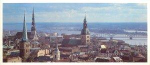 Postcard Latvia Rigacity Old Riga panorama
