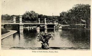 MA - Boston. Bridge at Public Garden
