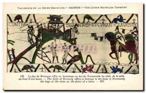 Postcard Old Bayeux Tapestry of Queen Matilda The Duke of Brittany offers a t...